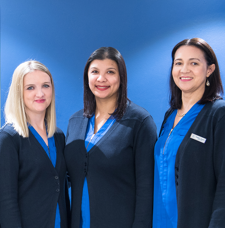 3 BRP employees posing for a photo