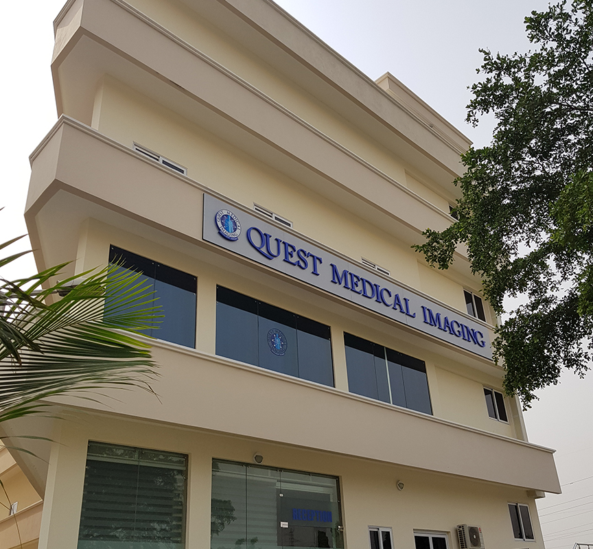 Picture of the Quest medical imaging building in Ghana Accra